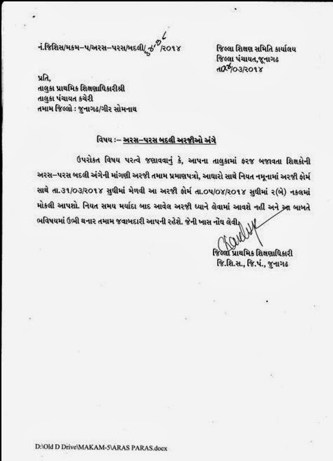 Job Application Letter Gujarati
