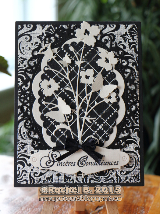 Condolences Card Impression Obsession Memory Box Spellbinders