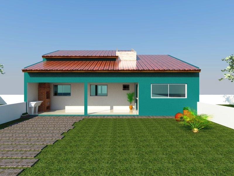 Modelo de casas simples com varanda tattoo design bild for Modelos casas modernas para construir
