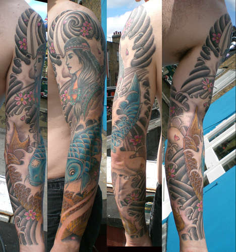 Great tattoo ideas pictures of traditional japanese for Japanese full arm tattoo