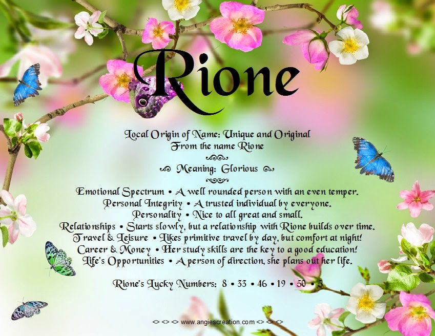 The meaning of the name -  Rione