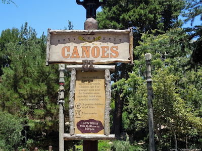 Davy Crockett Explorer Canoes Disneyland sign Critter Country