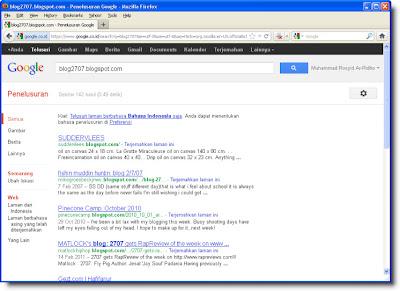 Hasil Pencarian Blog Sendiri