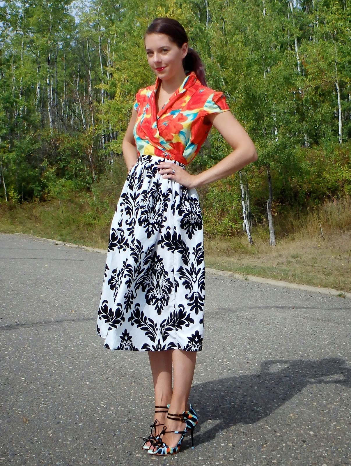Canadian Fashion Blogger, Midi Skirt Outfit