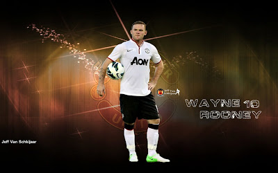 Wallpapers Wayne Rooney Manchester United (MU) 2012-2013