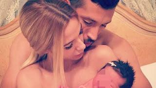 Ezequiel Garay y Tamara Gorro con shaila, su hija de vientre de alquiler