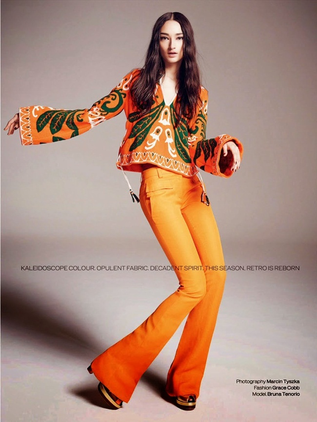 Emilio Pucci 2015 SS Yellow Boho Top & Shorts Twin Set Editorials
