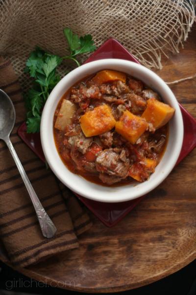 Lamb and Buttternut Squash Stew | www.girlichef.com