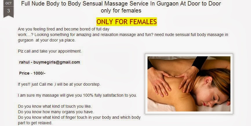 body massage for girls