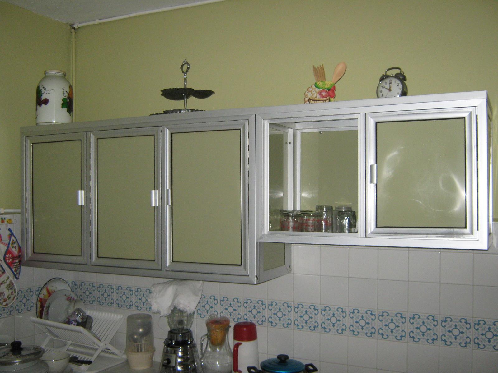 Central de vidrio y aluminio gabinetes para cocina - Cocinas con bloques de vidrio ...