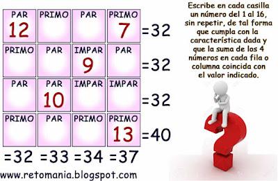 Descubre los números, Matematigramas, Problemas matemáticos, Desafíos matemáticos, Problemas para pensar, Problemas de lógica, Matigramas