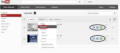 Cara Daftar Adsense Lewat Youtube