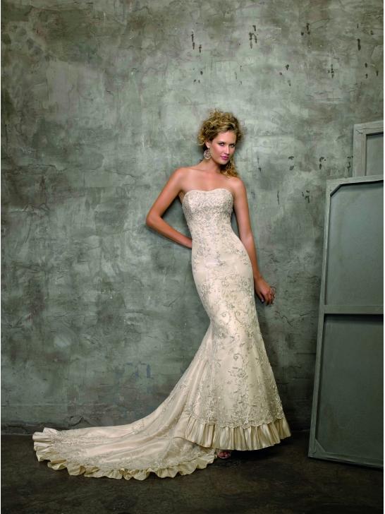 Lange Brautkleider Online Blog: Elfenbein Brautkleider