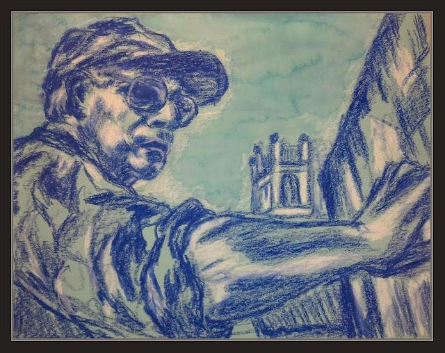 ERNEST DESCALS-PINTOR-PINTANDO-RETRATOS-ARTISTAS-INTERNACIONALES-kokopellikevin Kevin Henry