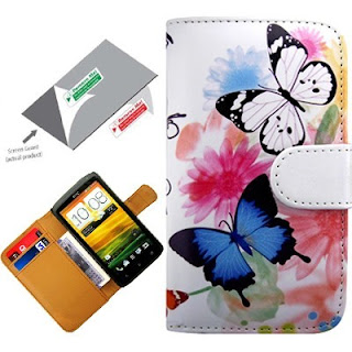 Butterfly Book Flip Case Cover Pouch Wallet Pocket For HTC One X 1X