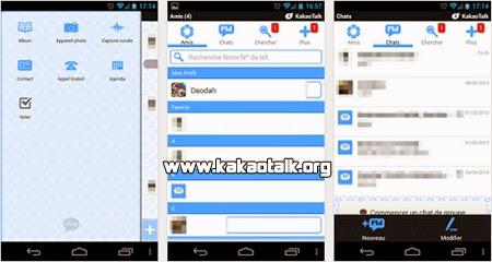 Cambia el diseño de Kakao con Kakao Talk Theme Baby Blue para Android