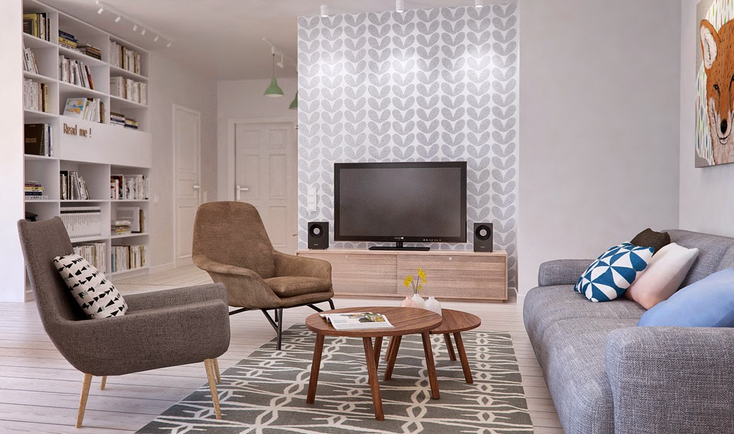 graphic wallpaper scandinavian design