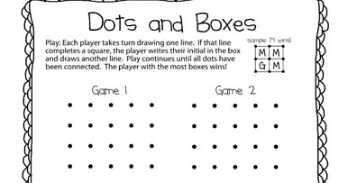 graphic about Dots Game Printable identified as The Puzzle Den: Dots and Packing containers Freebie