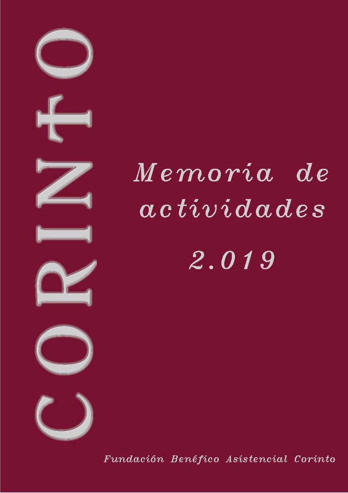 Fundación Corinto. Memoria 2019