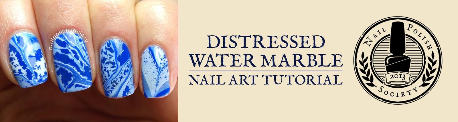 Nail Polish Society Tutorial Distressed Water Marble