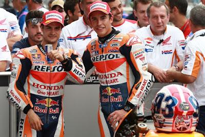 Jegal Rossi, Marquez - Pedrosa Berlakukan Team Order di Indianapolis?