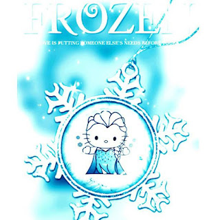 Gambar Hello Kitty Frozen Salju