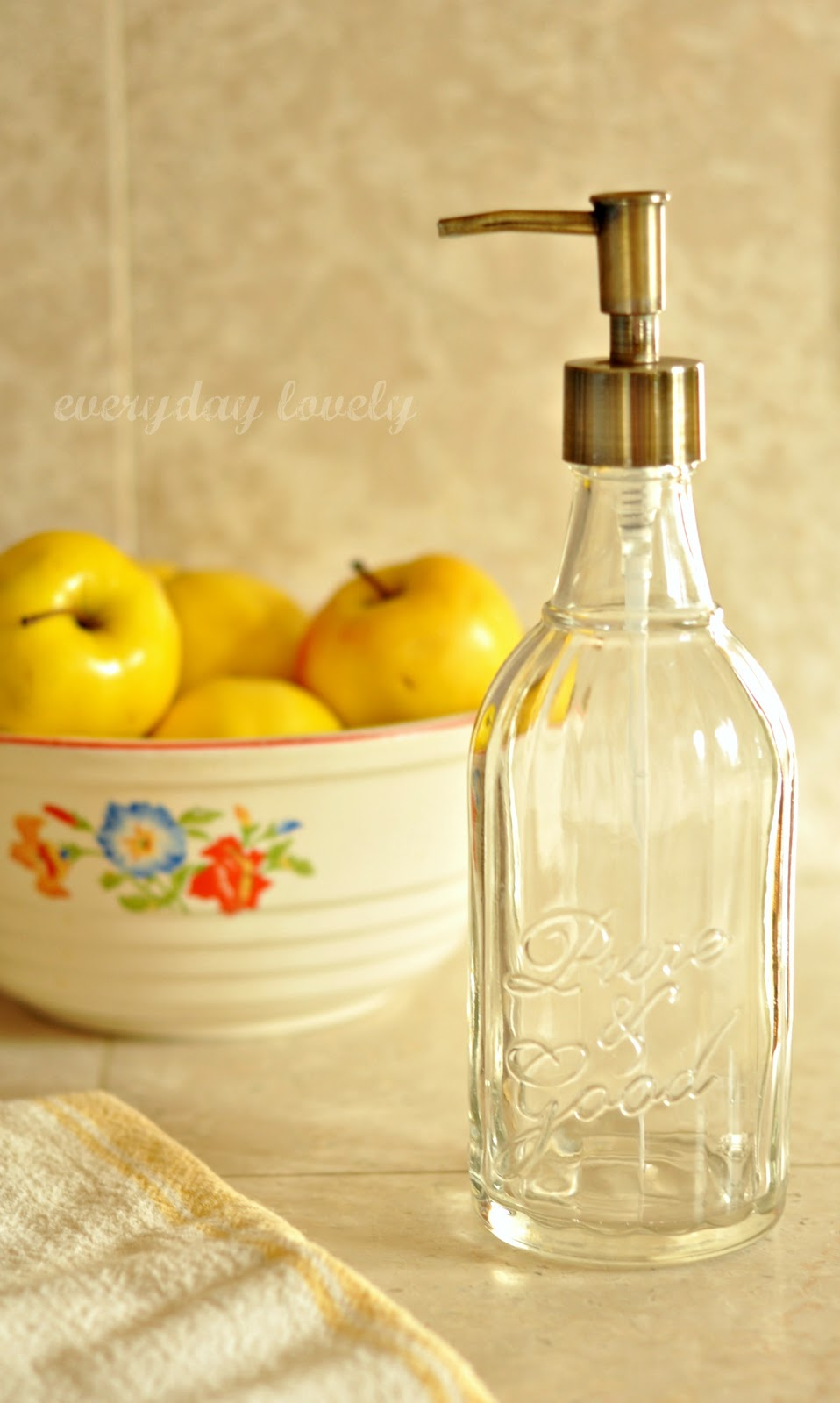 Fixer upper kitchen soap dispenser - Anyway I Just Finally Finished The Original Hand Soap That Came In It An Exciting Event Because It S Time To Fill It With This Lovely Dish Soap From