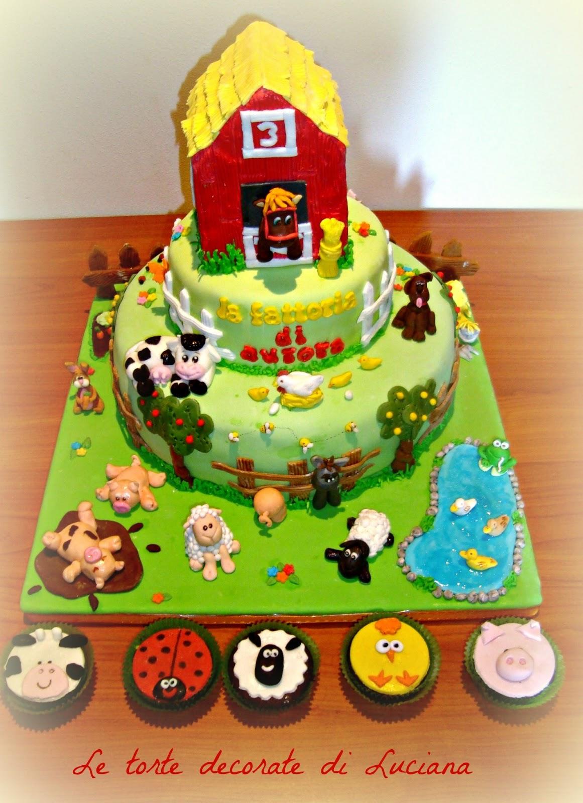 Le torte decorate torta fattoria for Piani di fattoria stonegate