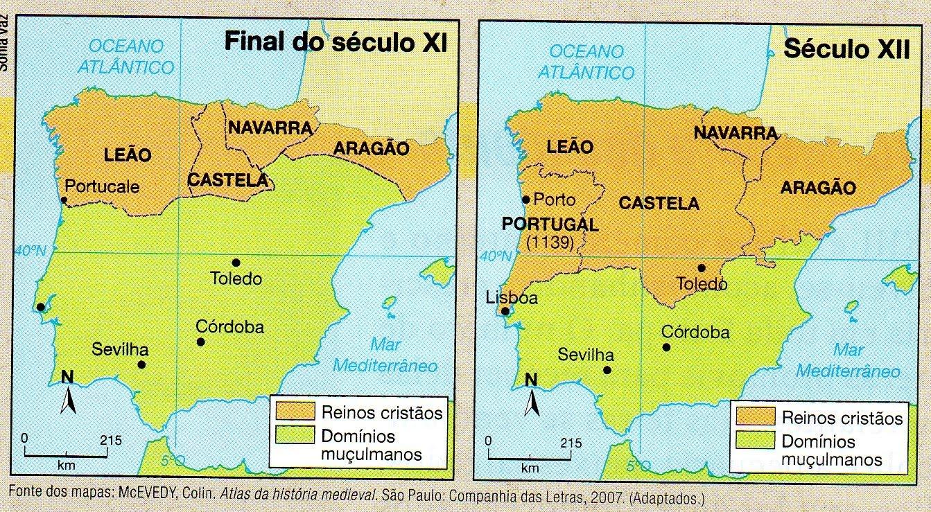 Coisas de História - Professor Ferdinando  Formação  Portugal ... 36e730411efb9
