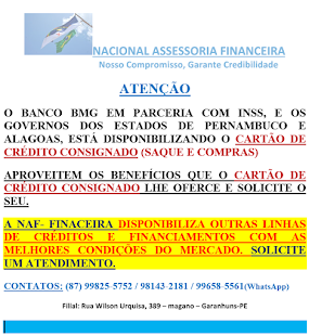 CARTÃO DE CRÉDITO CONSIGNADO