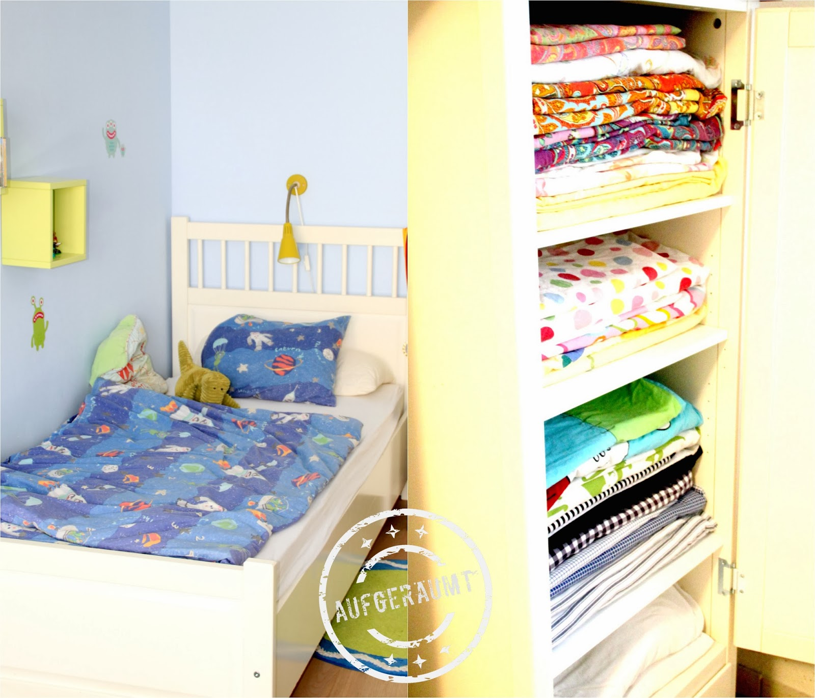 Bettwäsche für das Kinderzimmer - auch hier braucht man maximal zwei Garnituren