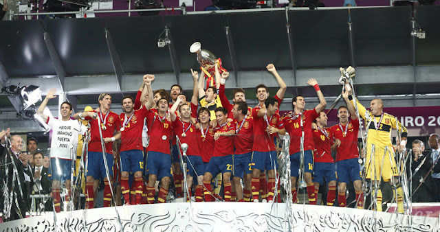 Celebración España campeona de Europa