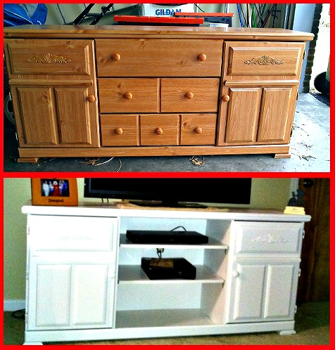 our first diy project dresser to tv stand