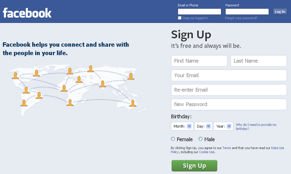 how to search for a facebook page