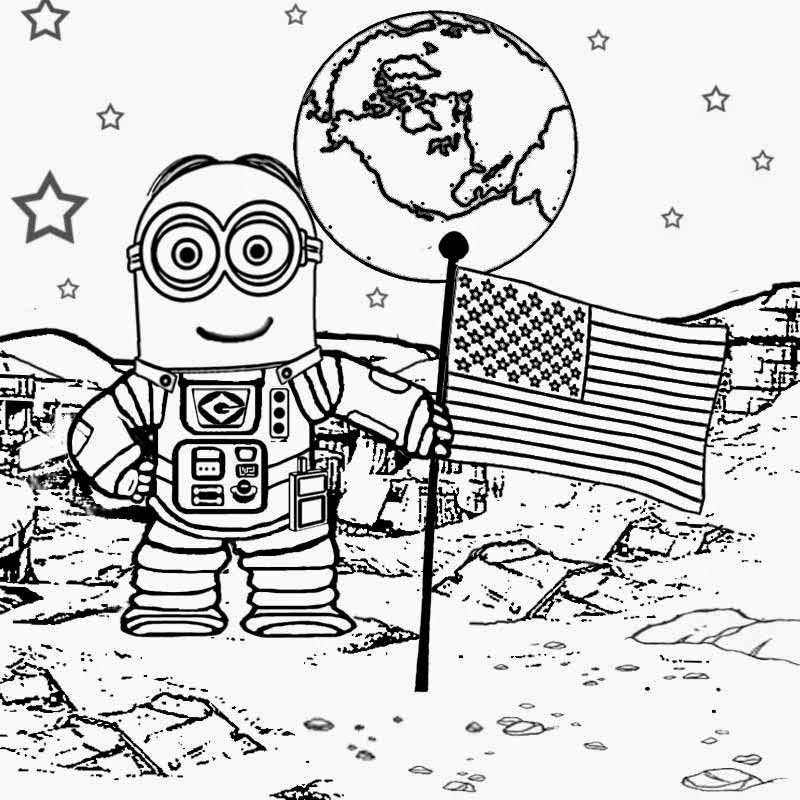 Kids Costume Minion Coloring Pages on simple gear cartoon