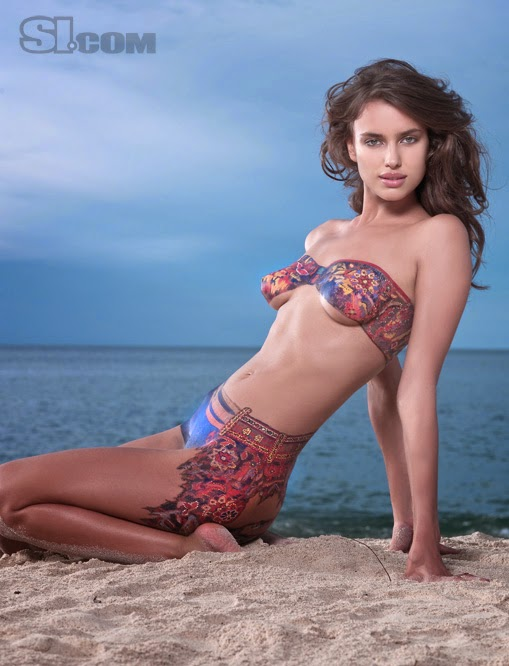irina shayk body paint irina shayk in sport illustrated bodypainting