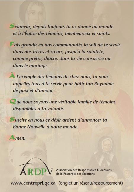 ❀ « Credo » pour les vocations ❀  prière pour les vocations 2013 2011-vero