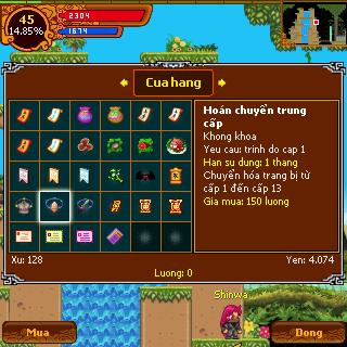 Chuyển hóa trong game ninja school