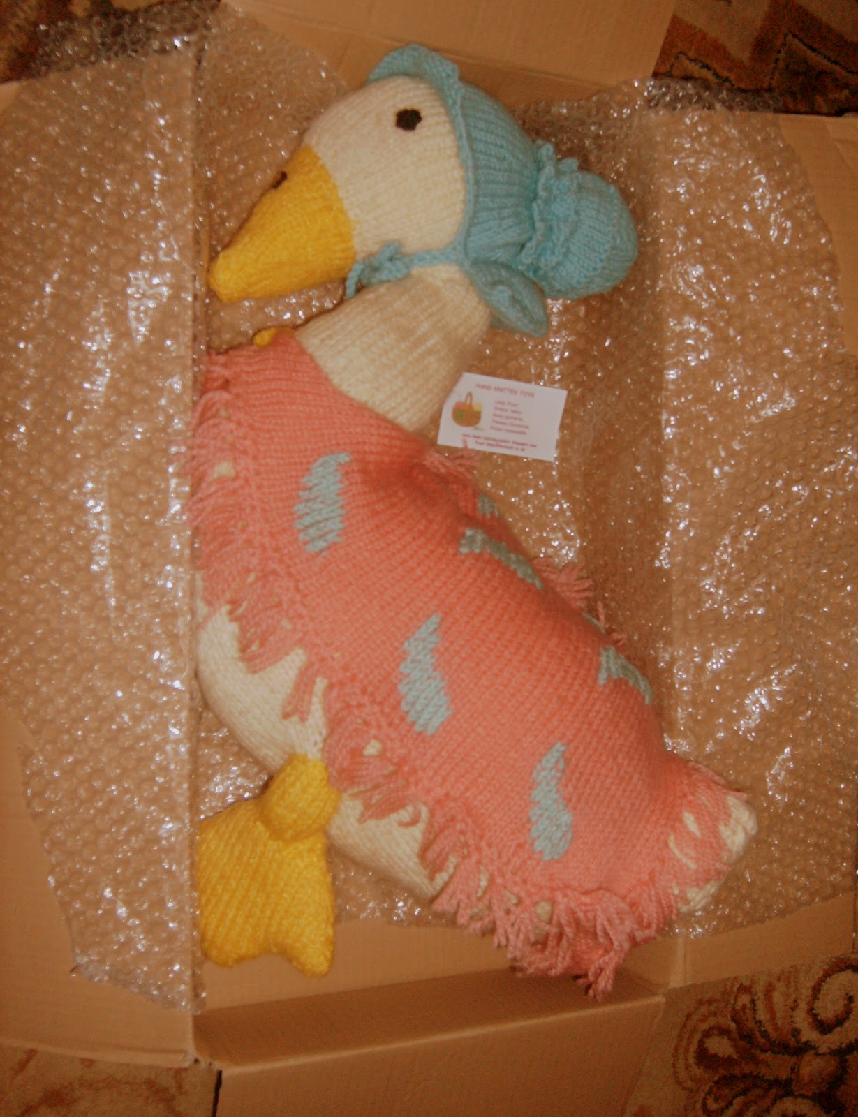Knitting Pattern For Jemima Puddle Duck : Knitting Addict: Jemima Puddle duck