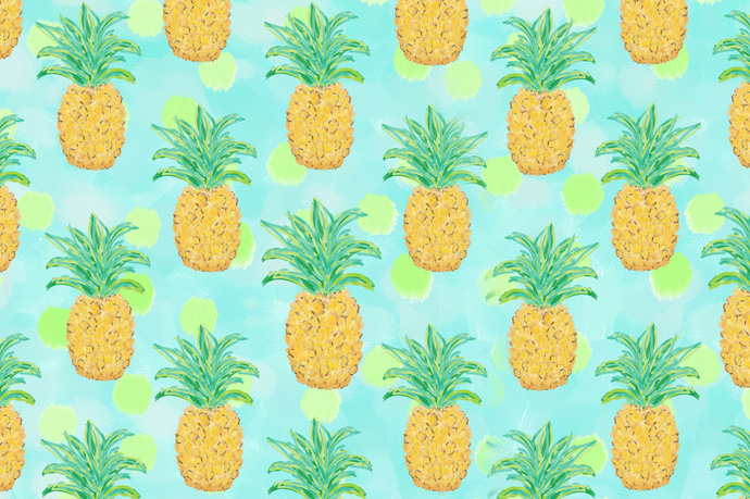 Pineapple is the new moustache louise grenadine blog for Fond ecran ananas