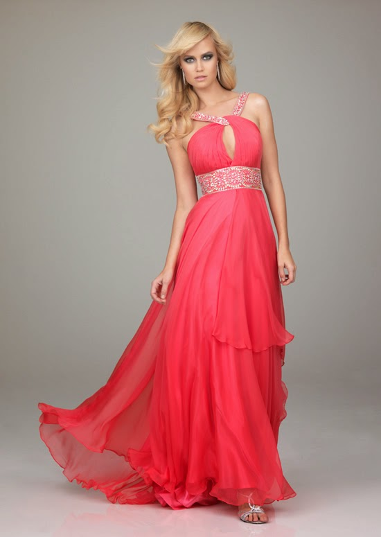 Charming A Line Empire Floor Length