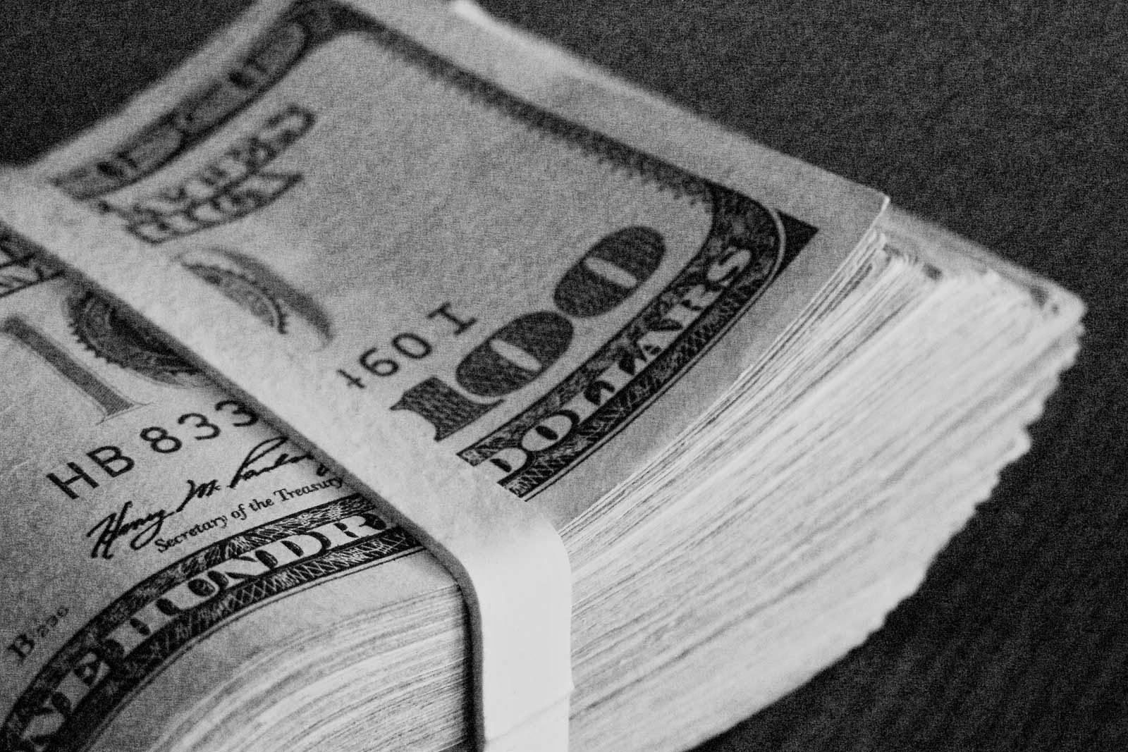 Geldbündel Dollarscheine