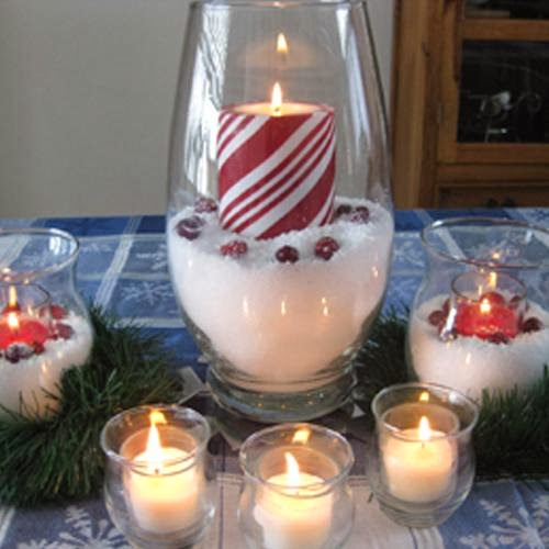 Christmas 2015 table decorations ideas pictures pinterest Diy christmas table decorations