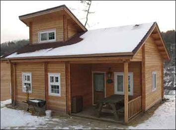 Caba a con lucarna planos de casas gratis - Casas moviles madera ...