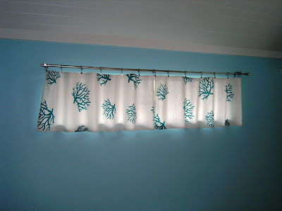 no sew valance curtain project
