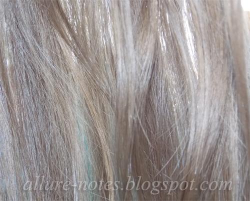 действие на длинных волосах