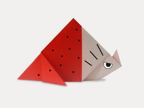 Hướng dẫn cách gấp con khủng long ba sừng Triceratops bằng giấy đơn giản - Xếp hình Origami với Video clip