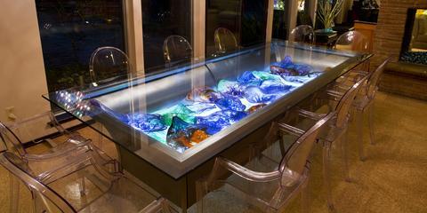 Potter Art Metal Studios Spectacular Dining Table by David Gappa