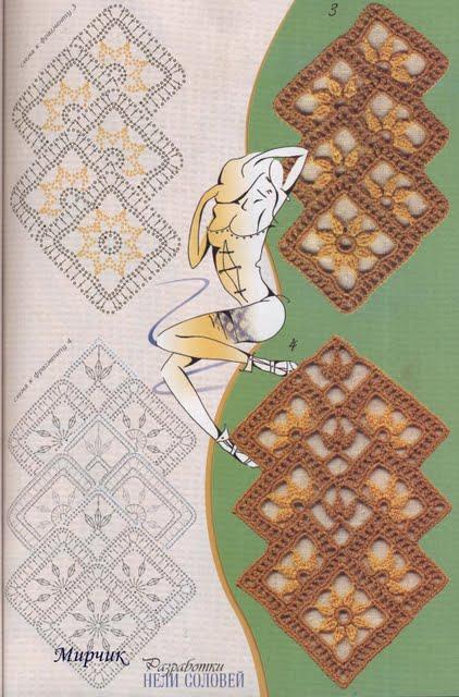 Muestrario De Puntos Calados A Crochet