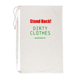Stand Back! Dirty Clothes Laundry Bag